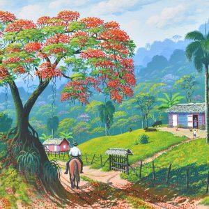 Flamboyán provincia Espaillat painting