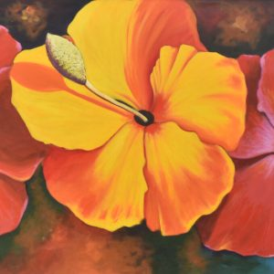 La flor del caribe painting