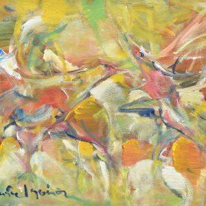 Pelea de Gallos painting