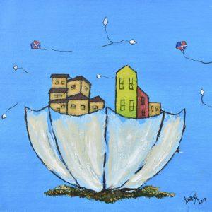 Volando juntas painting