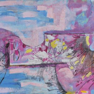 AMOR EN ROSA painting