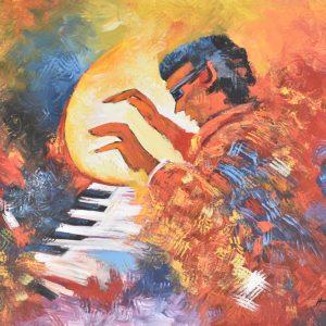 El pianista painting