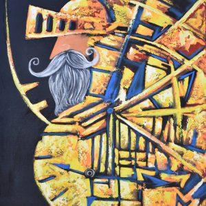El tiempo del hidalgo Don Quijote painting
