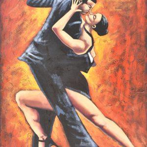 Flamenco en la ciudad painting