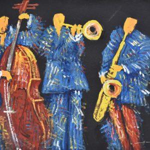Noche de jazz painting