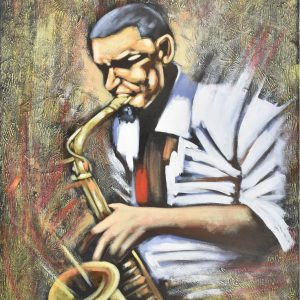 Saxofón painting
