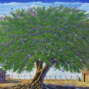 Jacaranda painting