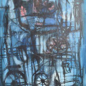 La Espera Azul painting