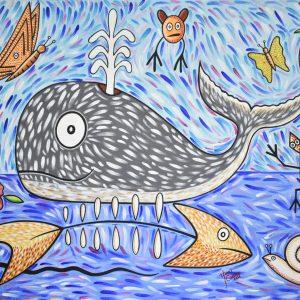 Ballena jorobada II painting