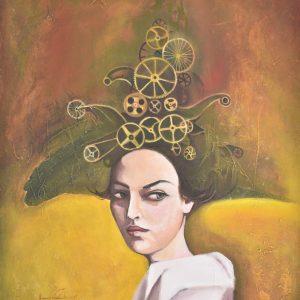 Machine Woman painting