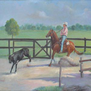 Una jornada de trabajo painting