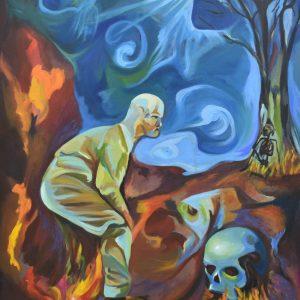 el hombre perdido painting