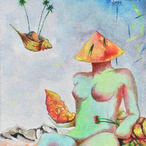 Princesa Leía en Salinas painting