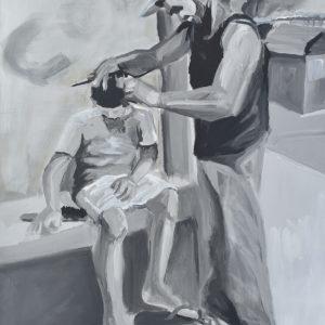 El Barber Shop painting