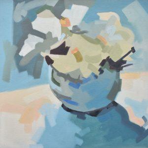 Jarrón con flores painting