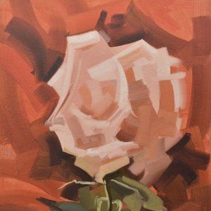 Rosa blanca por planos painting