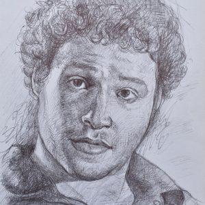 Seth Rogen painting
