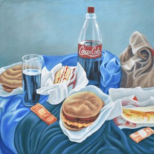 Bodegón de comida chatarra painting
