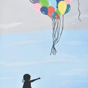 La niña painting
