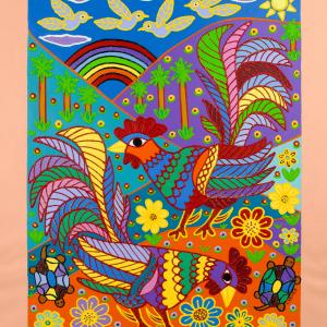 GALLOS EN EL CAMPO painting