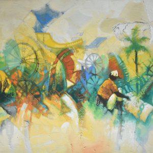 Simbiosis de un sueño I painting