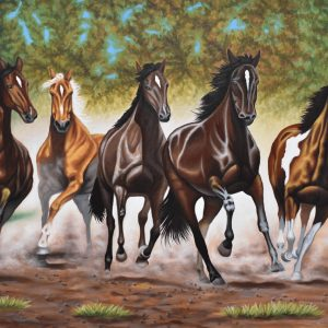 Libertad de los caballos painting