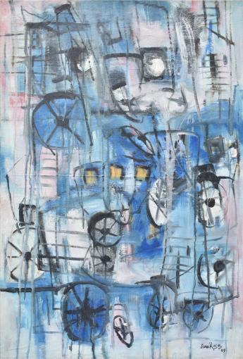 Retorno Azul painting