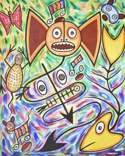 El mágico ritual del murcielago painting