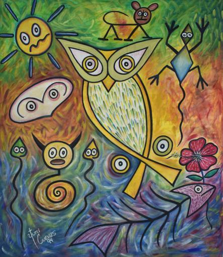 En el valle de las hupías painting