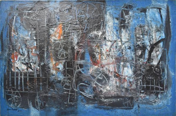 Coche Nocturno painting